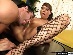 Maid jesse jordan gets her pretty pussy fucked at work