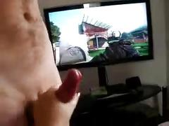 British wife playing with her new joystick .!