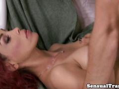 bareback, big tits, fucks guy, anal, fucking, hardcore, tattoo, stud