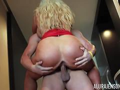 Milf alura jenson pussy slammed with hard cock going in deep