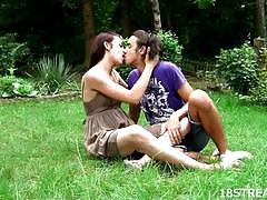 Lesbians enjoy outdoor fuck