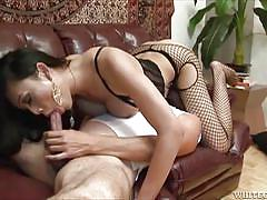 Cock play on the couch @ asian transsexuals