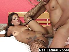 Reallatinaexposed a big latin cock for her wet pussy