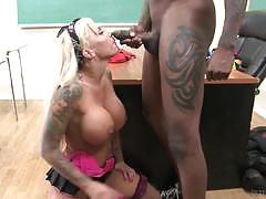 Cute blonde lolly ink smashed in detention in her sweet clit slit by bbc