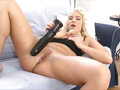 ex girlfriend, blonde, busty, toy, masturbation, dildo, solo, brutal, insertion, masturbate, masturbating