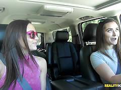 Car sex with minge munching babes dani daniels and abigail mac