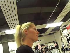 Breathtaking czech teen is seduced in the mall and shagged in pov