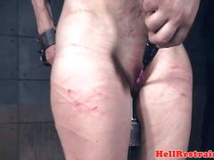 Milf slut flogged and clit toyed by maledom