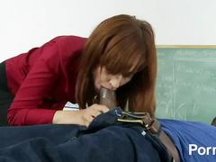 big dick, creampie, hardcore, interracial, red head, small tits, school, tattoo, teacher, student, bbc, big-cock, blowjob, classroom, redhead, stockings, pussy-licking, shaved, missionary, doggy-style