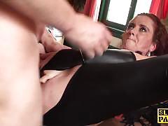 Kinky redhead gets her pussy slammed