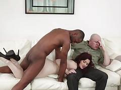 Mean wife jessica ryan fucks bbc in front of her husband