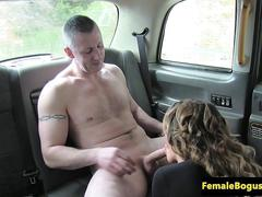babe, big boobs, blowjob, fucking, english, taxi