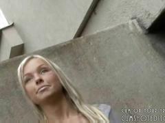 1 gorgeous blonde amateur public handjob pov
