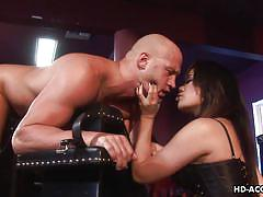 Lustful brunette lady enjoys being a dominatrix