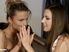 Passionate kisses by sapphic erotica - sensual lesbian sex scene with juliette a