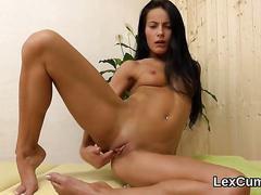 Ravishing czech beauty lexi dona masturbates and comes