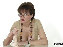 Unfaithful british milf lady sonia shows off her monster naturals