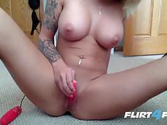 ex girlfriend, big tits, blonde, cum, dildo, vibrator, cam, petite, webcam, tattoos, piercings, masturbating, striptease