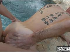 big tits, fucks guy, anal, fucking, tattoo
