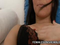 Morena del sol - sultry shemale fuck her girl friend