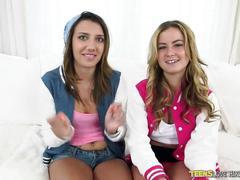 Teens loves huge cocks - perfect threesome