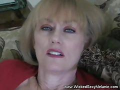 Sloppy nasty hot blowjob from amateur gilf