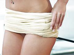 victoria lynn, masturbation, heels, fingering, redhead, strip, orgasm, naked, masturbate