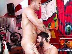 A couple of hot boys make out