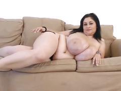 Macromastia - biggest tits in the world - strip tease