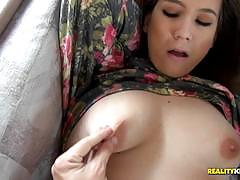 Penny hart gobbles up on cock in the caravan