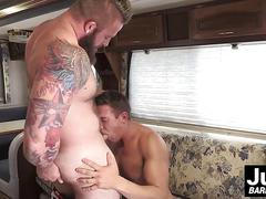 Studs aaron and alexander love bikes and rough gay anal sex