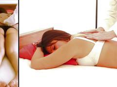 Luna's erotic massage - split screen