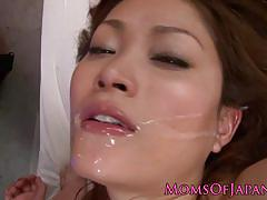 ex girlfriend, asian, facial, milf, stockings, threesome, mom, hairy, japanese, closeup