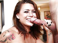 Busty eva angelina gets her face creamed