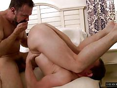 Twink tastes an older gay cock @ his daughter's boyfriend 3