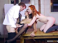 Pussy pounding sensual jane and ella hughes with monster cock