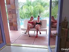 Kinky christy mack and dahlia sky behind the scenes