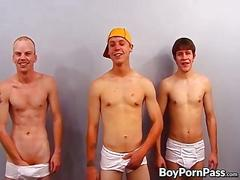 Threesome twinks justin mack and peewee know how to party