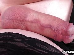 Ts natalie mars fucks herself with a dildo