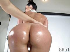 anal, big boobs, milf, ass, fucking, high heels, oil