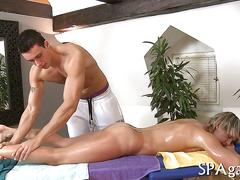 He gets the best massage of his life and a boner