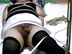 Asian cross dresser gets toyed and fingered by his old lover