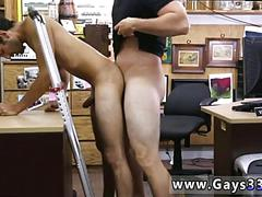 Straight guy desperate for cash gets his ass fucked in pawn shop