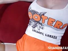 Canadian hooters! shanda fay facialized!