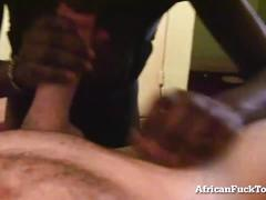 Horny african girl can't get enough white cock!