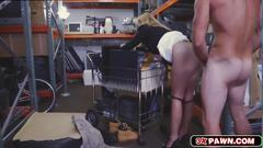 Blonde milf holly came to a seedy pawnshop