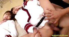 3 schoolgirls getting their pussies fingered fucked hard