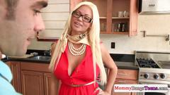Mamma cougar shows stepteen how its done
