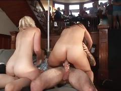 Sexy bitches slammed in group by college studs