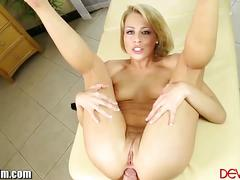 Zoey monroe takes cock in her ass and swallows cum